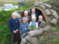 OUTSIDE AIR RAID SHELTER OPENED AT THE MUSEUM