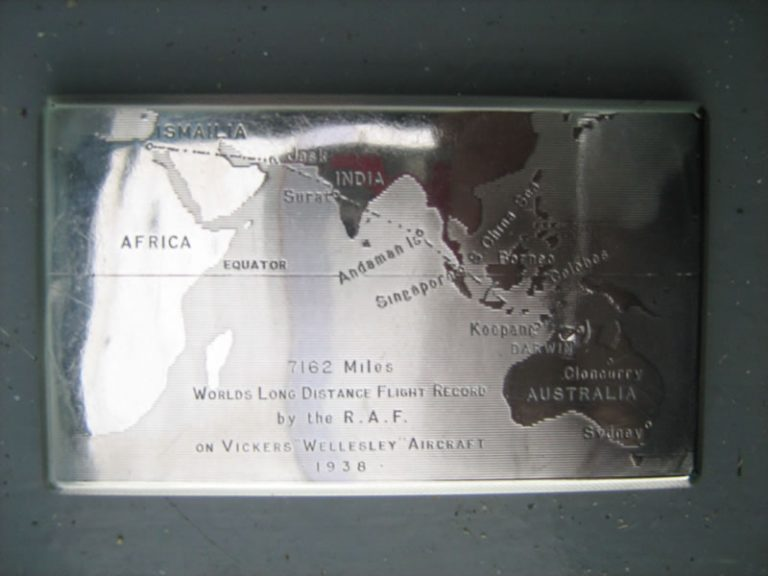 A CIGARETTE CASE ENGRAVED WITH THE ROUTE OF THE RAF'S 1938 WORLD DISTANCE RECORD
