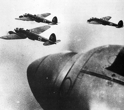 A formation of He111s en-route to London