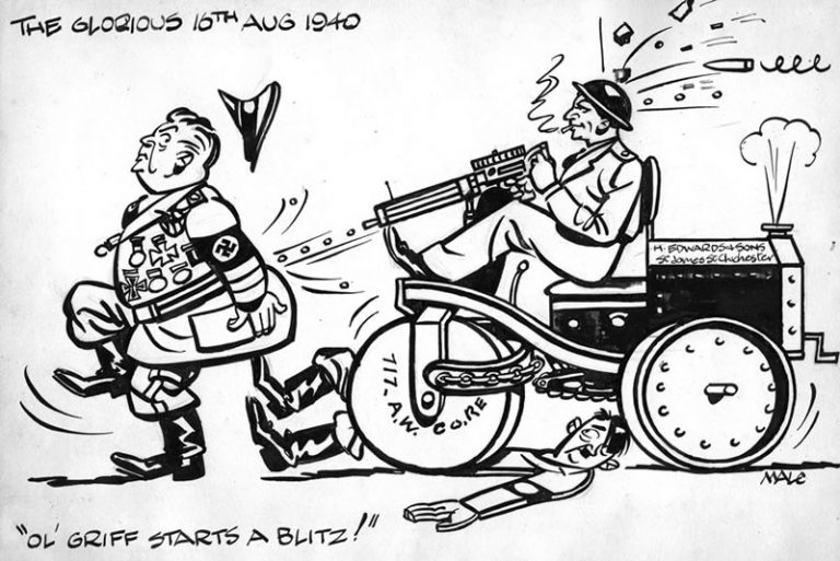 "A CARTOON –""THE GLORIOUS 16 AUGUST 1940"""