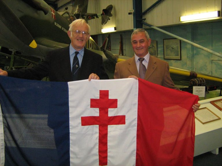 Free French flag donated to the museum