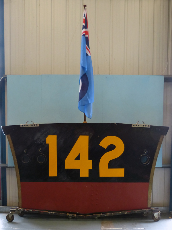 THE TRANSOM OF RAF HIGH SPEED LAUNCH 142