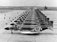 A line up of No 228 OCU's Phantoms in 1969. XV408 is 5th from the front. (Photo: Pete Mears)