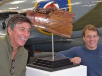Sculptor Greg Percival, left, and Arthur Williams.